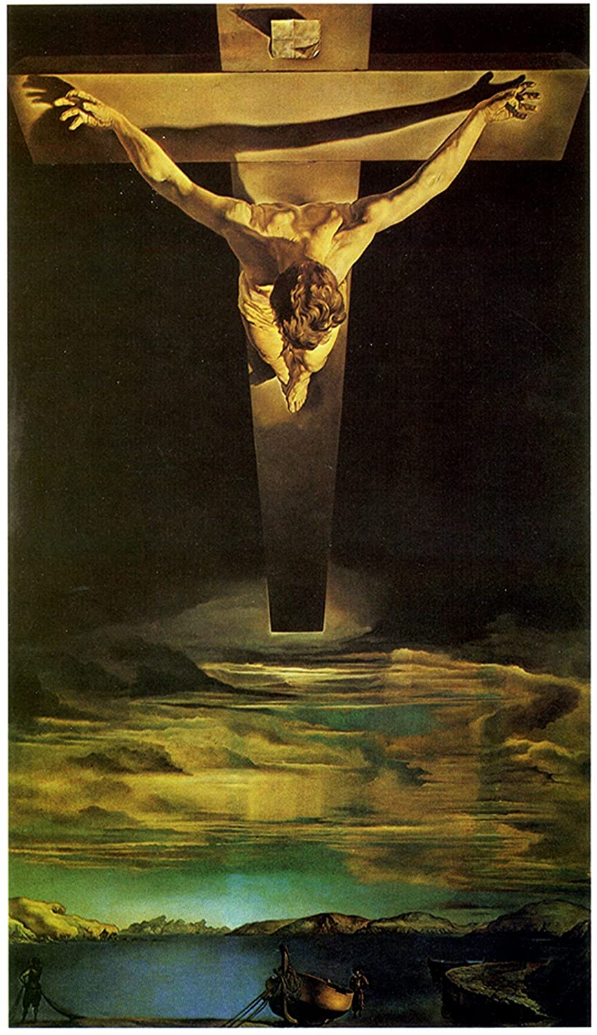 .Salvador Dalí.- TITULO.- Cristo de San Juan de la Cruz -LITOGRAFIA MODERNA-SIZE PRESS- HUELLA- 65x50-51x40- PAPER OPTION ARCHES-BFK FRANCE: Amazon.es: ...