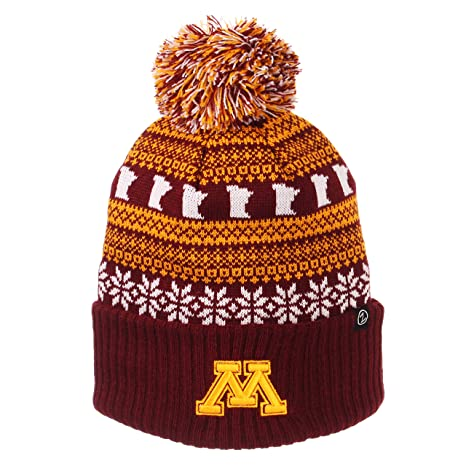 reputable site ce60a a37ee ZHATS NCAA Minnesota Golden Gophers Unisex Carouselcarousel Knit, Burgundy,  One Size