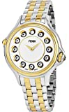 Fendi Crazy Carats White Dial Stainless Steel Ladies Watch F107134000T06