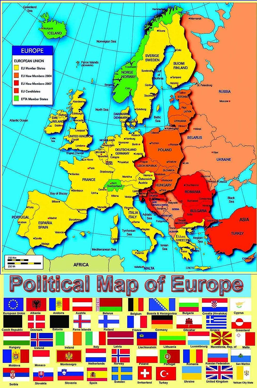 Map of Europe Amazoncouk Schofield Sims Ltd 9780721709345 – Europe and Uk Map