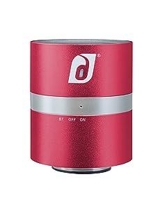 Damson Audio Twist Portable Wireless Bluetooth Speaker Lightweight Aluminum Construction - Red