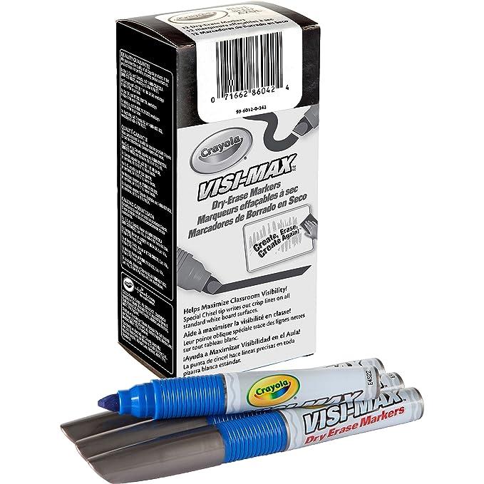Amazon.com : Crayola 986012A042 Dry Erase Board Markers Visi ...