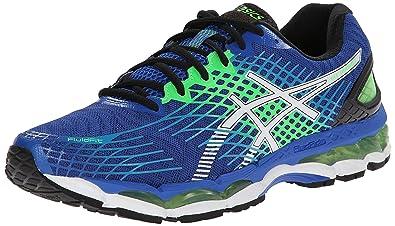 ASICS Men's Gel-Nimbus 17 Running Shoe,Royal/White/Flash Green,