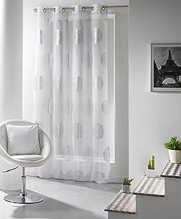 Amazon.de: Gardine puristisch moderner Ösenschal HxB 245x140 cm