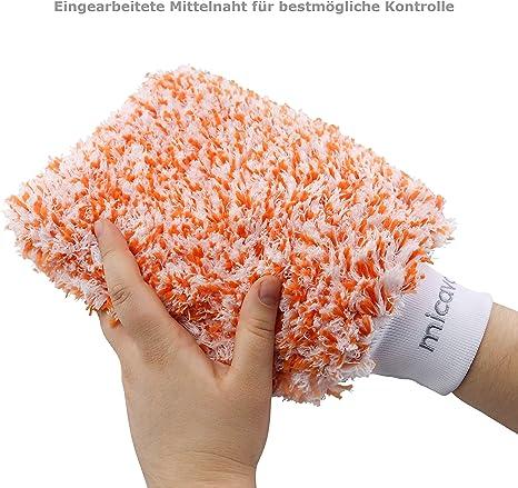Micavo Autowaschhandschuh Aus Mikrofaser Der Saugfähige Handschuh Für Ihre Autoreinigung Schonend Und Effektiv Bringen Sie Ihr Auto Zum Glänzen Auto