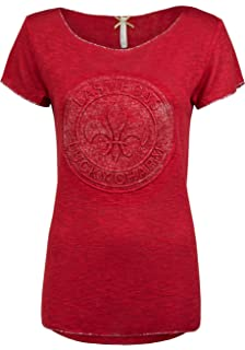 Key Largo Damen Skull T-Shirt Brain Round Totenkopf Pailletten Motiv ... d539581e31