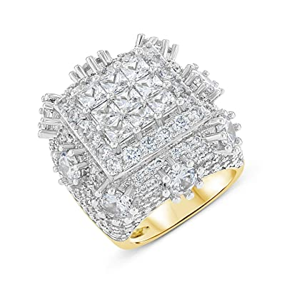 Shop Igold 14k Gold Finish Cz Iced Out Pinky Ring For Men Hip Hop