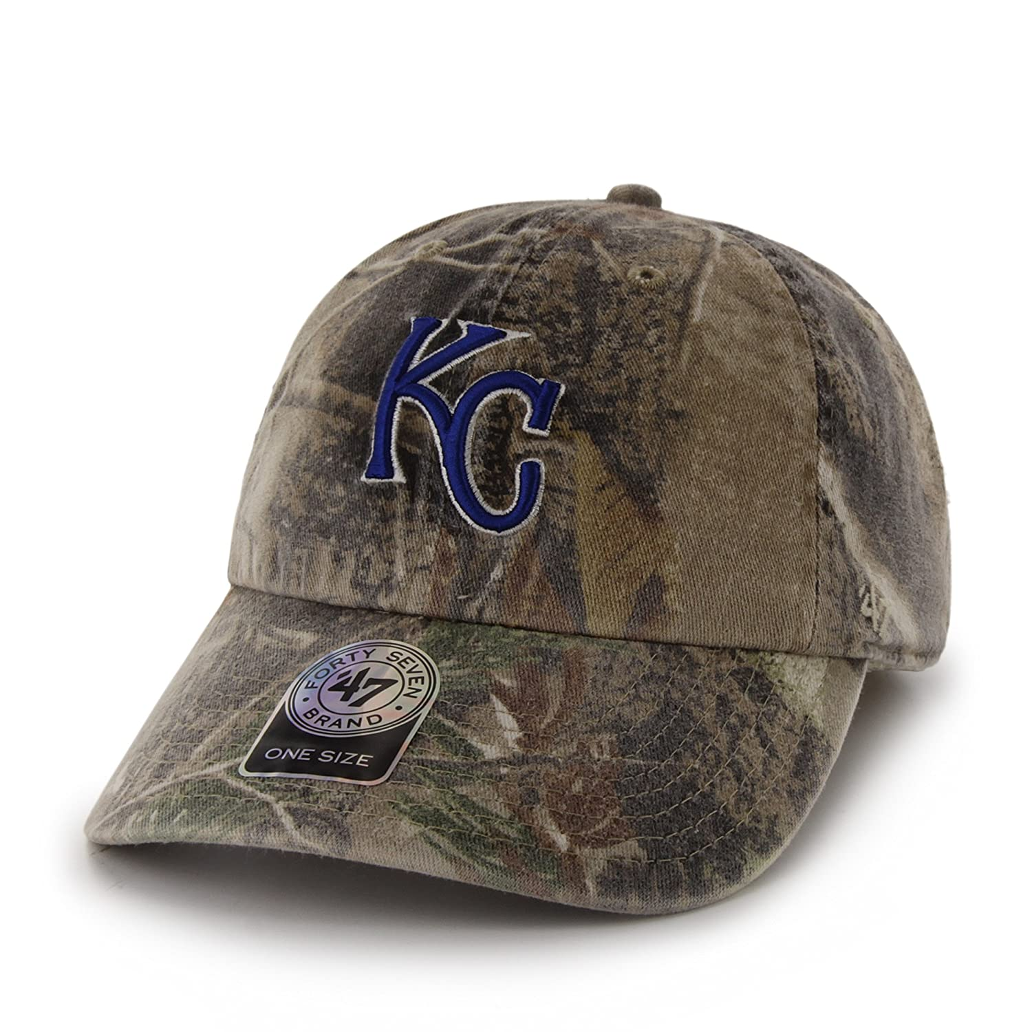 sale retailer cda4a 9dde9 Amazon.com    47 MLB Kansas City Royals Clean Up Adjustable Hat, One Size,  Realtree Camouflage   Sports Fan Baseball Caps   Clothing