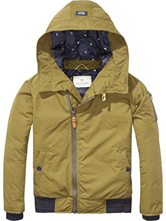 Scotch & Soda Shrunk Padded Jacket Chaqueta, Verde (Olive ...
