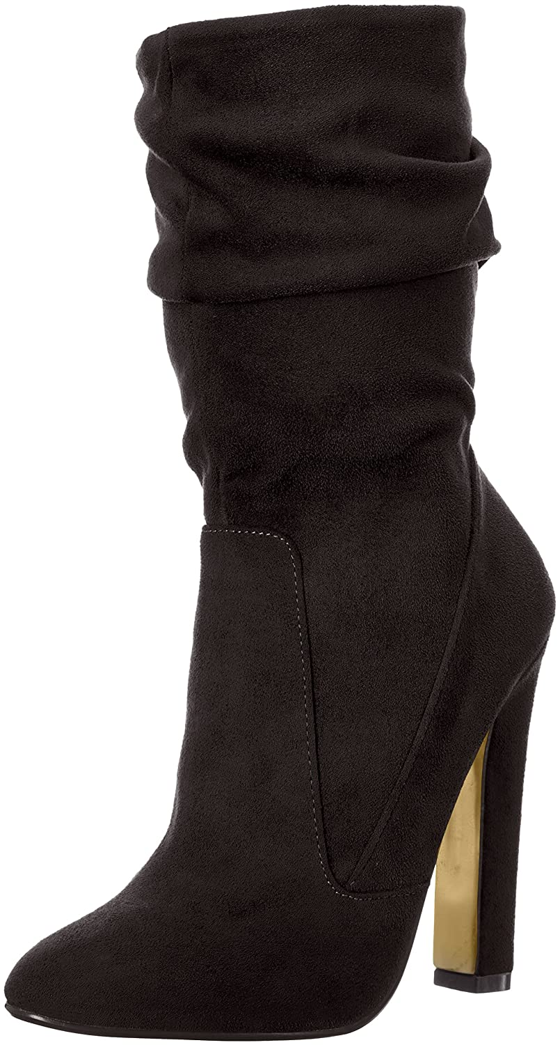 2012336753 Amazon.com | Luichiny Women's Cha Ching Ankle Bootie | Mid-Calf