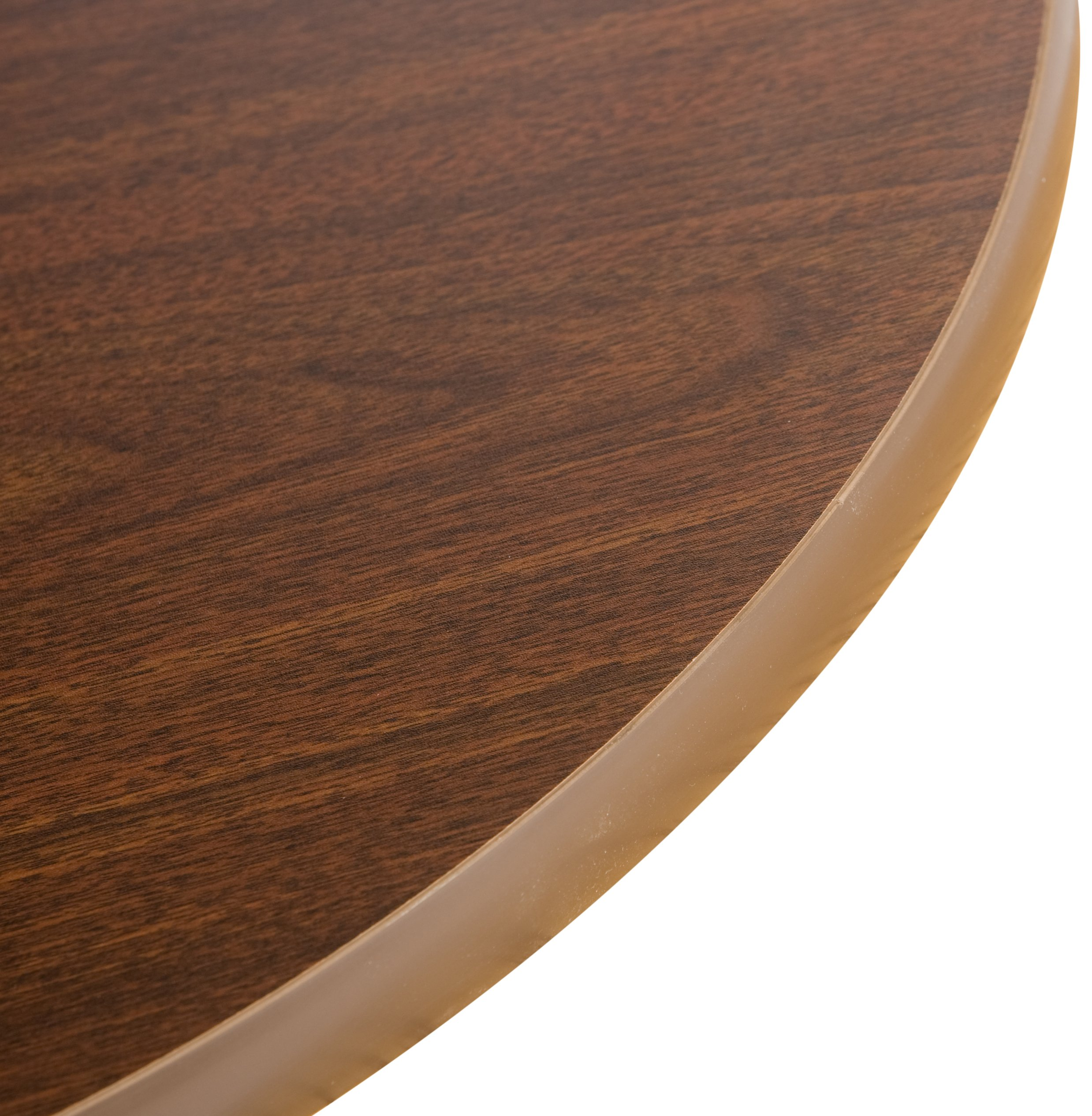 Oak Street Manufacturing OW42R Two Sided Round Tabletop, 42'' Diameter x 1'' Thick, Oak/Walnut by Oak Street Manufacturing