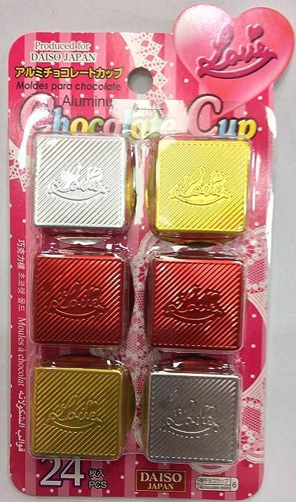 Daiso Japan Moldes Para Chocolate Aluminuim Chocolate Cup 24 Pcs.