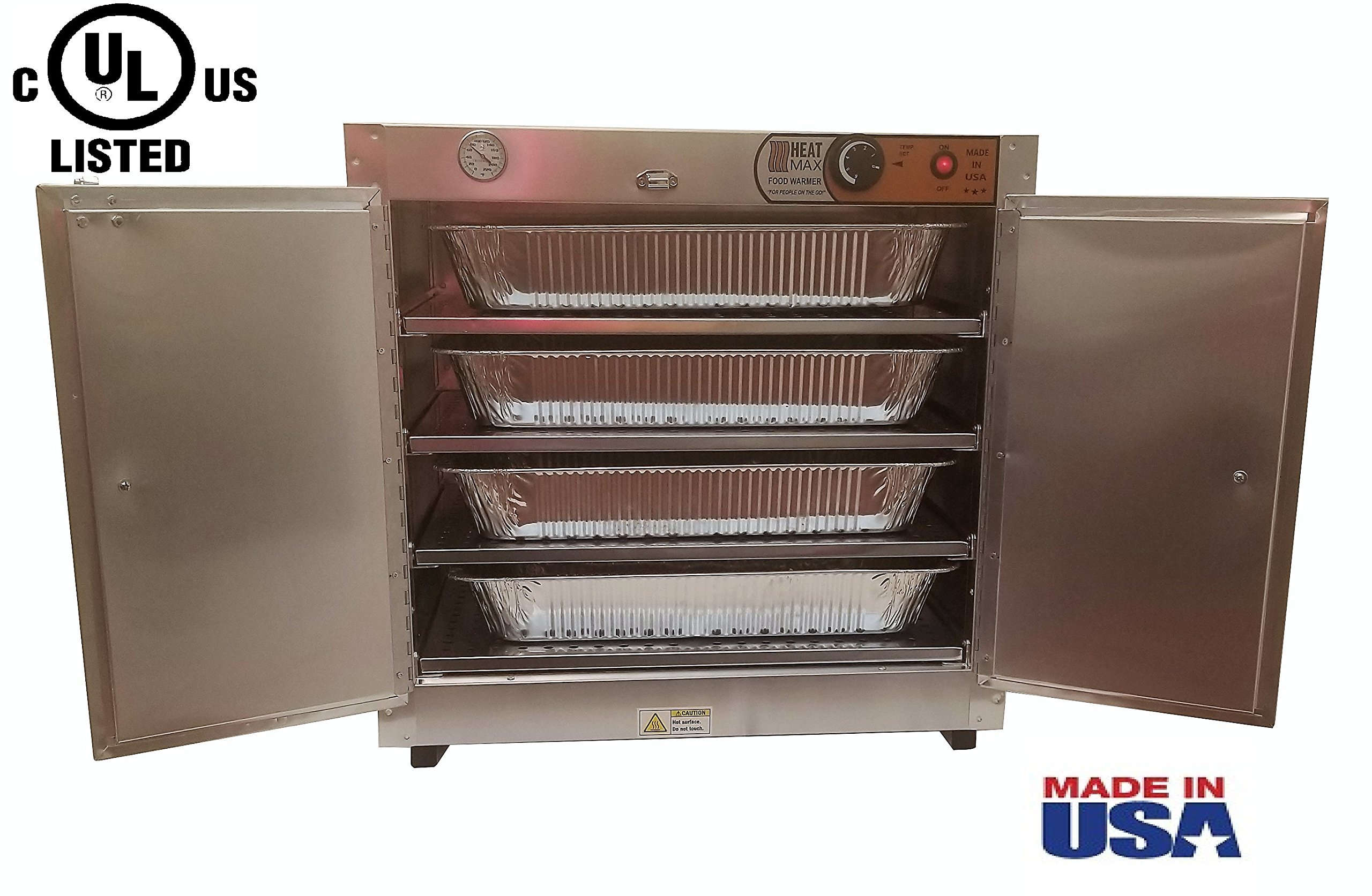 Commercial 110V Catering Hot Box Proofer Food Warmer w/ Water Tray 25''x15''x24'' by HeatMax