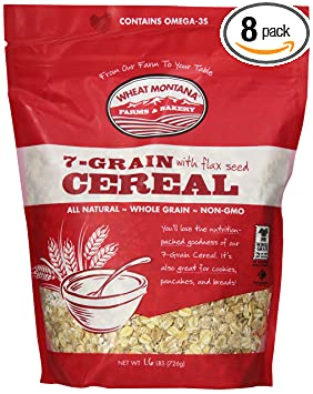 Amazon wheat montana cereal 7 grain with flax 16 pound pack amazon wheat montana cereal 7 grain with flax 16 pound pack of 8 breakfast cereals ccuart Gallery