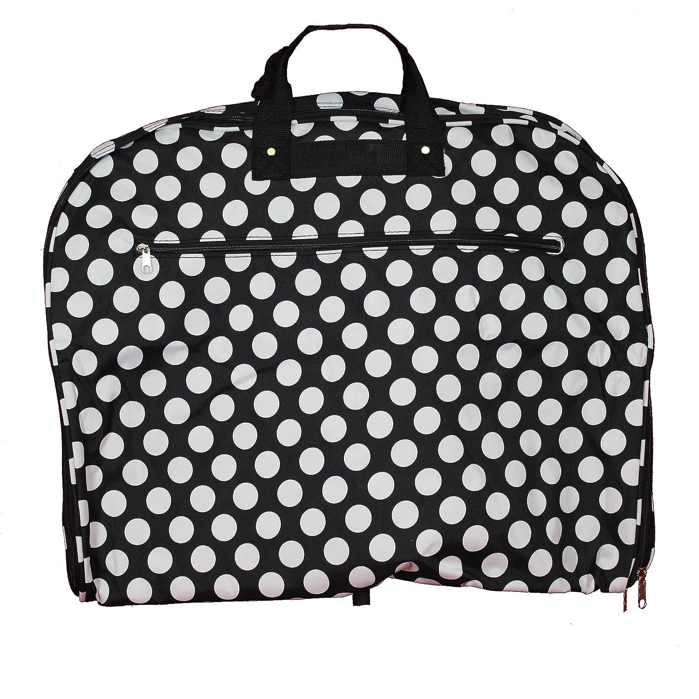 World Traveler 40-inch Hanging Garment Bag-Black White Dot Ii