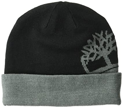 632b62e84 Timberland Men's Cable Knit Beanie, Black, One Size: Amazon.co.uk ...