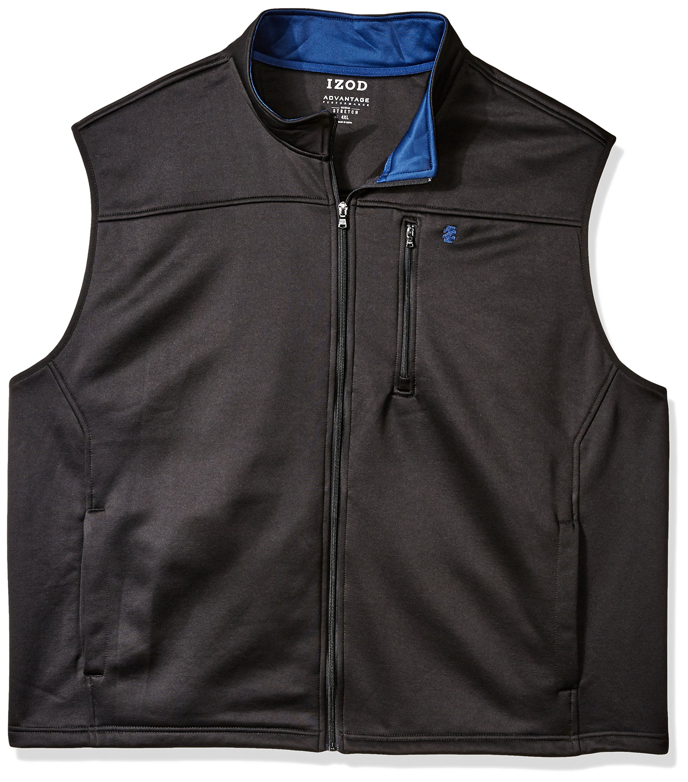 IZOD Men's Big Spectator Solid Fleece Vest, New Black, X-Large Tall