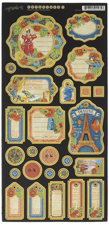 Graphic 114.30 cm World's Fair Aufzeichnungen Spanplatte Graphic 45 4501180