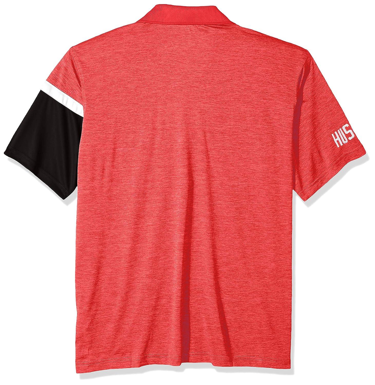 Small Athletic Red NCAA Nebraska Cornhuskers Mens NCAA Mens Short Sleeve Striped Polo Collared Teechampion NCAA Mens Short Sleeve Striped Polo Collared Tee