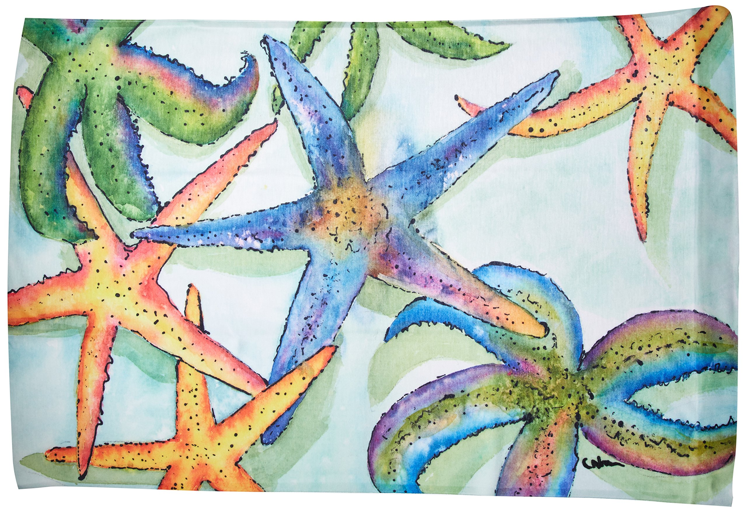 Caroline's Treasures 8542PILLOWCASE Starfish Moisture Wicking Fabric Standard Pillowcase, Standard, Multicolor - Starfish Moisture wicking Fabric standard pillowcase Ships from our store in Mobile, AL usually in 24-48 hours. Transit times are usually about 2-3 days. Standard White on back with artwork on the front of the pillowcase Machine Wash and Dry. Moisture Wicking Material. NO Fabric Softener - patio, outdoor-throw-pillows, outdoor-decor - 91BCjJu8jLL -