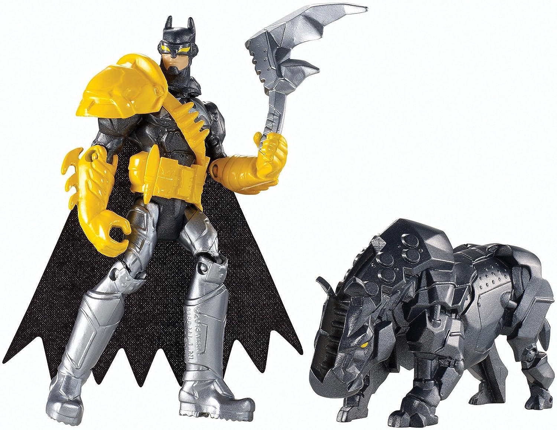 Batman Unlimited: Batman and Axe Rhino Action Figures B00OCK8EMK