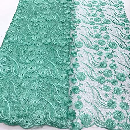 5 yardslot african cord lace fabric wedding fabricNigerian lace fabric for sewing