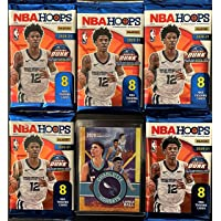 5 Factory Sealed 2020-21 Panini NBA HOOPs Basketball Card Packs - 8 Cards Per Pack - Look for Rookie Cards of LaMelo Ball, Anthony… photo