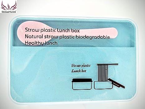 Amazon.com: zacate de trigo caja de almuerzo de fibra, Verde ...