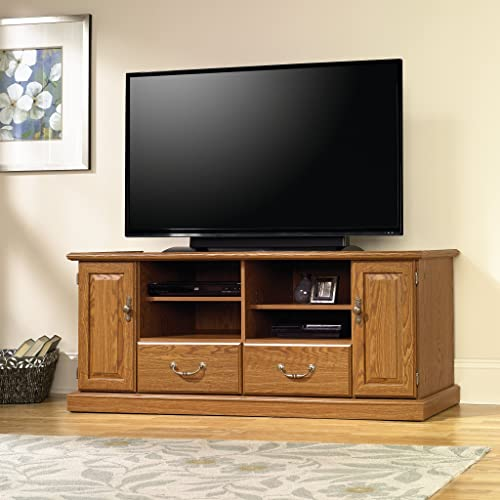 Sauder Orchard Hills Entertainment Credenza, For TV s up to 55 , Carolina Oak finish