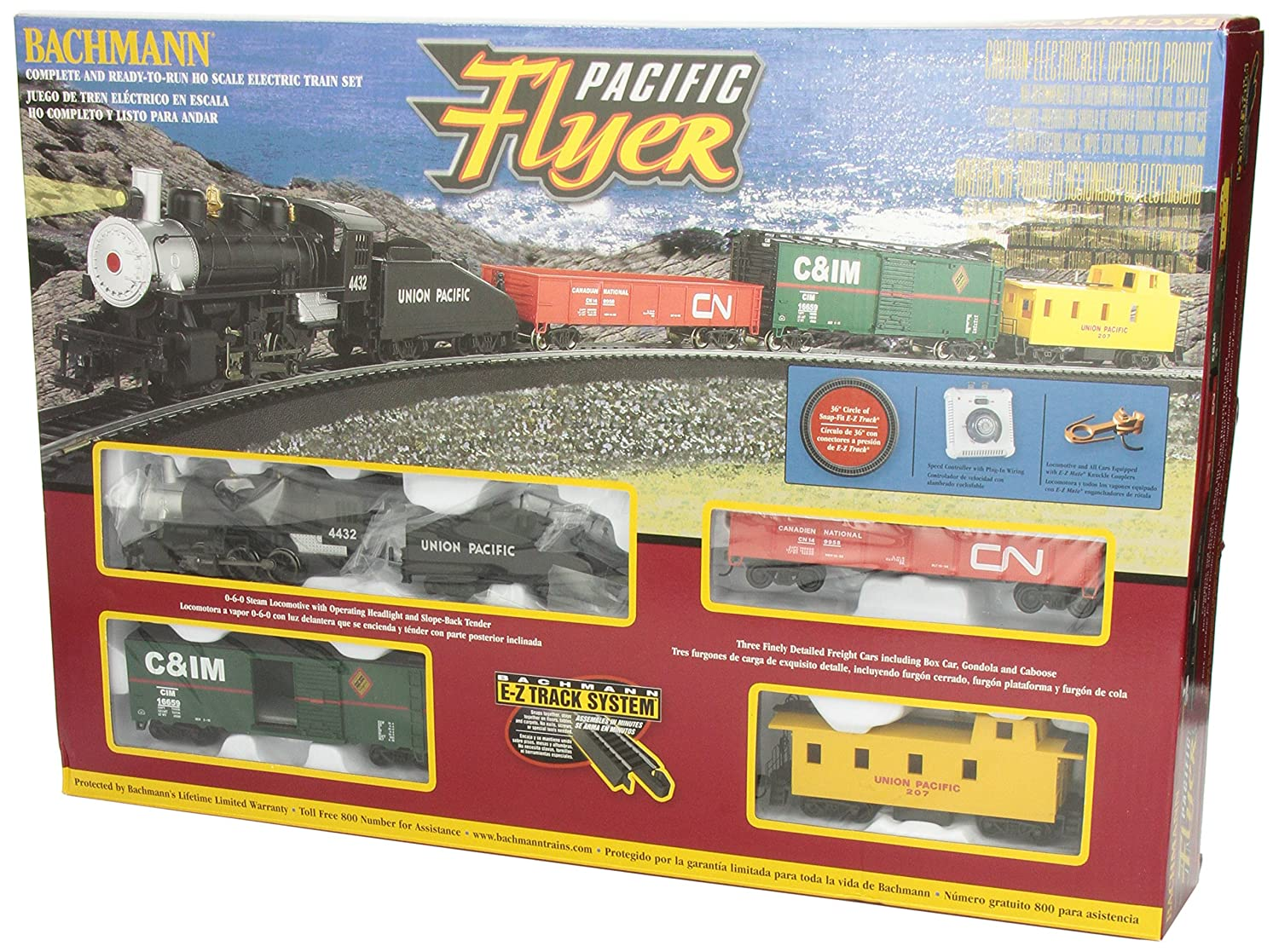 Amazon.com: Bachmann Trains Pacific Flyer Ready-to-Run HO Scale Train Set:  Toys & Games