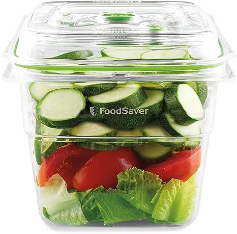 Foodsaver FFC008X Recipiente para envasar al vacío, 1,9 L, 1.8 ...