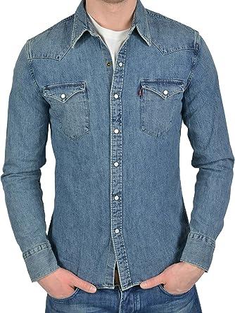 Levis L/S Barstow Western Shirt Camisa, Azul, 2XL para Hombre: Amazon.es: Ropa y accesorios