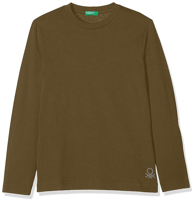 United Colors of Benetton T-Shirt L/s, Camiseta para Niños, Verde