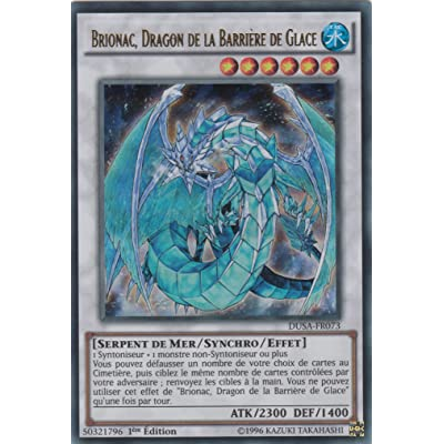"Carte Yu-Gi-Oh! ""Brionac, Dragon de la Barrière de Glace"" DUSA-FR073 - VF/ULTRA RARE"