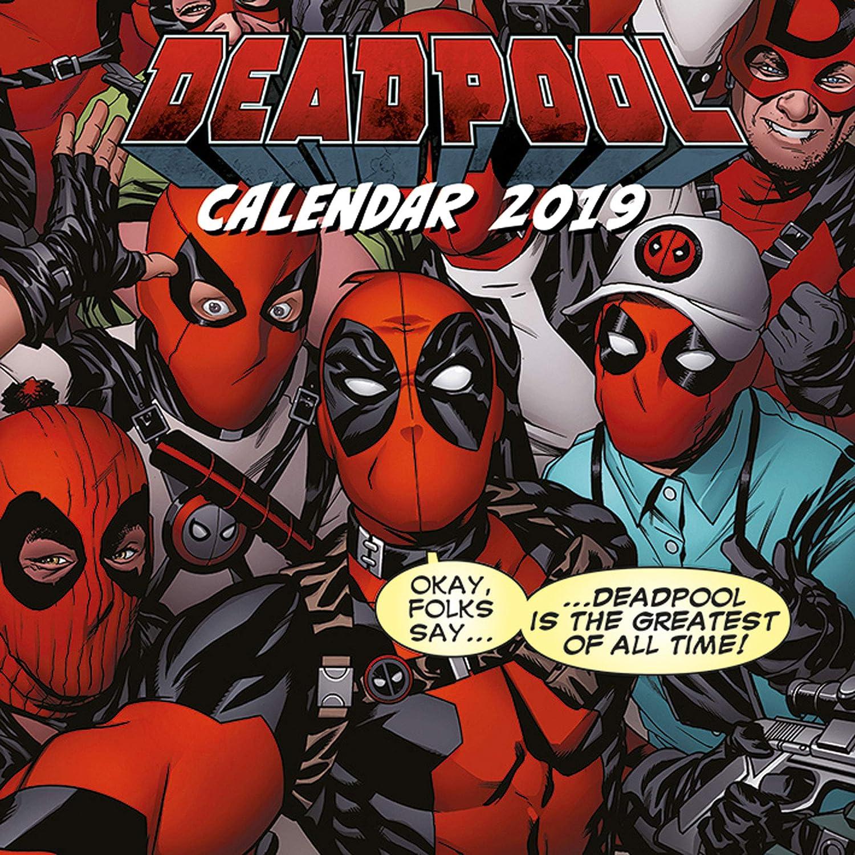 Calendario 2019Marvel Comic Deadpool calendario da parete 30x 30cm EMKA EMKA032019