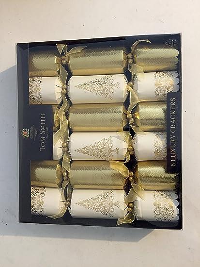 gold cream luxury christmas crackers