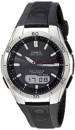amazon com casio men s wva m640 1acr wave ceptor stainless steel rh amazon com casio module 2735 manual Casio Watch Manual