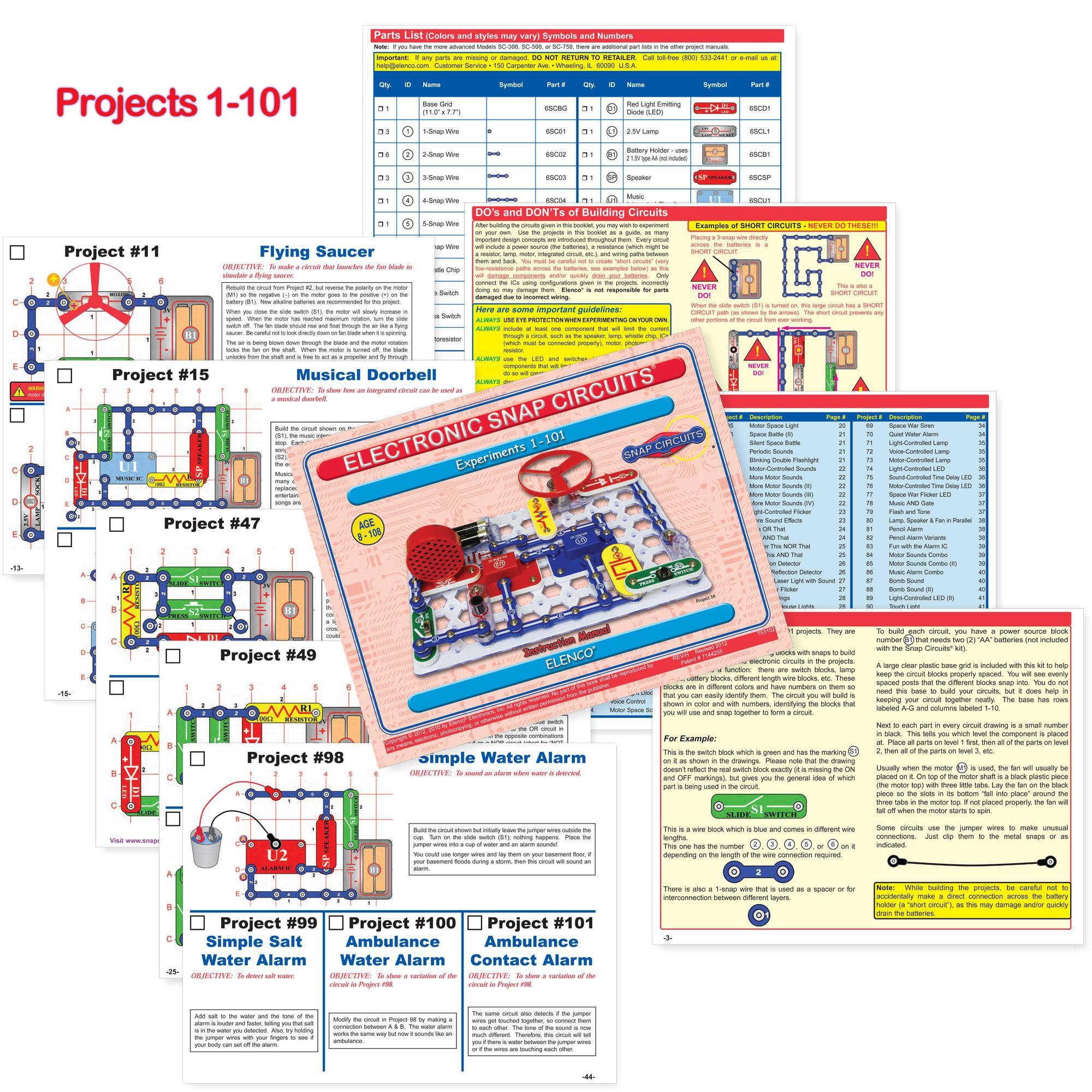 Snap Circuits PRO SC-500 Electronics Exploration Kit + Student Training Program with Student Study Guide   Perfect for STEM Curriculum by Snap Circuits (Image #4)