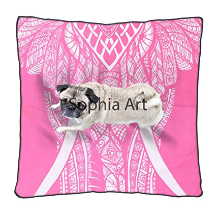Amazon.com: Sophia Art - Funda de cojín cuadrada para cama ...