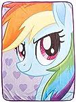Hasbro My Little Pony, Rainbow Selfies Micro Raschel Manta, 116,8 x 152,4 cm, Multicolor