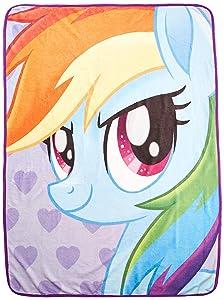 "Hasbro's My Little Pony, ""Rainbow Selfies"" Micro Raschel Throw Blanket, 46"" x 60"", Multi Color"