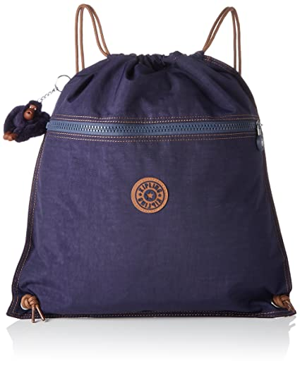 Kipling Supertaboo Sac de sport enfant, 45 cm, 15 liters, (Blue Tan Block)