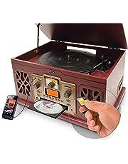 Sistema Retro Nostálgico Misik MN7855 Tornamesa Bluetooth CD Casete SD-Café
