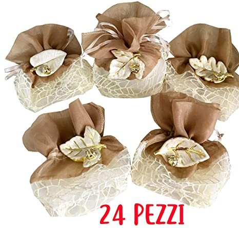 Prezzi Bomboniere Matrimonio.Maison Party By P L T Srls Prezzo X 24 Pezzi 24 Sacchetti