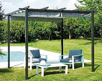 Dach Für Pergola amazon de möbel garten gaz503 pavillon eisen pergola mit dach