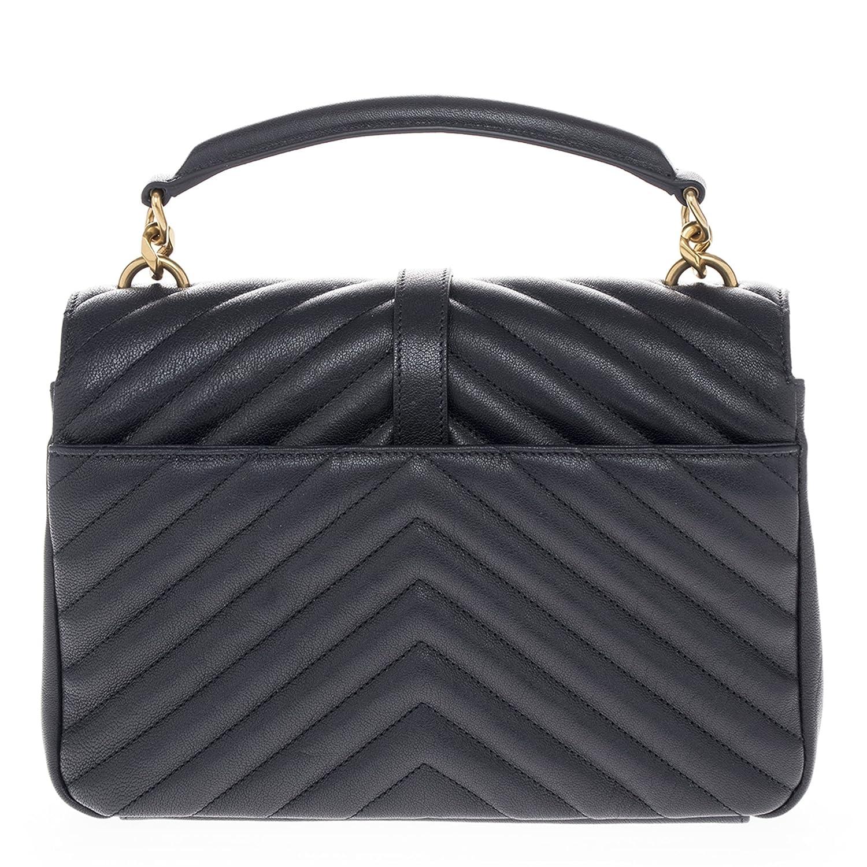 3eb3c1556783 Saint Laurent Women's Medium Monogram 'College' Matelasse Shoulder Bag with  Chain Strap Navy: Amazon.ca: Shoes & Handbags
