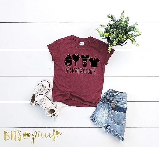 1a0392504 Amazon.com: Snack Goals Disney Tshirt | Mickey Mouse Shirt | Disney  Vacation | Disney Family Shirts | Mickey Mouse Shirt | Disney Trip  Inactive: Handmade