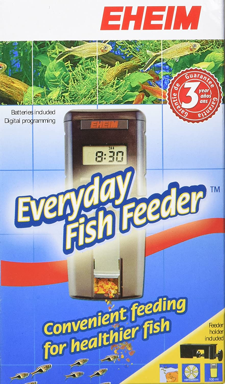 p ebay s battery fish feeder automatic twin operation eheim