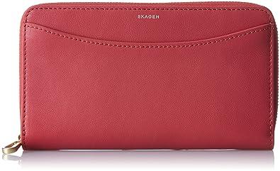 bene prezzo scontato grande liquidazione Skagen Compact Zip Wallet - Portafogli Donna, Rot (Berry ...