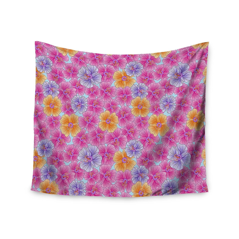 Kess InHouse Julia Grifol My Pink Garden Wall Tapestry, 51' x 60'
